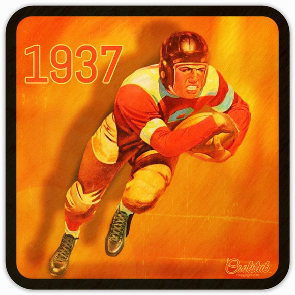 Coolstub™ 1937 Football Running Back Coasters