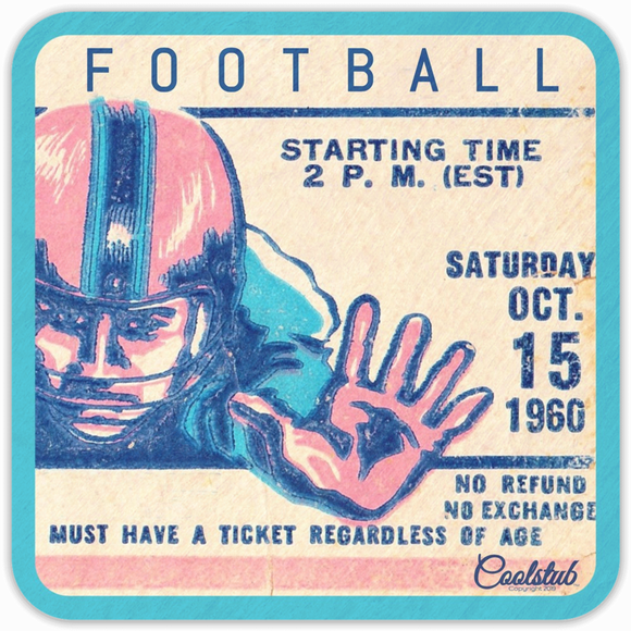 Best 1960 Birth Year Gifts: Coolstub™ 1960 Retro Football Ticket Coasters