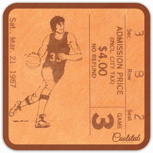 1987 Birth Year Gift Ideas: 1987 Basketball Ticket Coasters