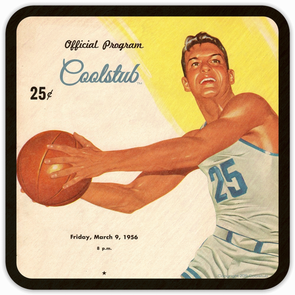 1956 Gift Ideas: 1956 Vintage Basketball Program Coasters by Coolstub™