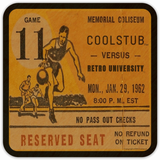 January 29, 1962 Basketball Ticket Coasters by Coolstub™