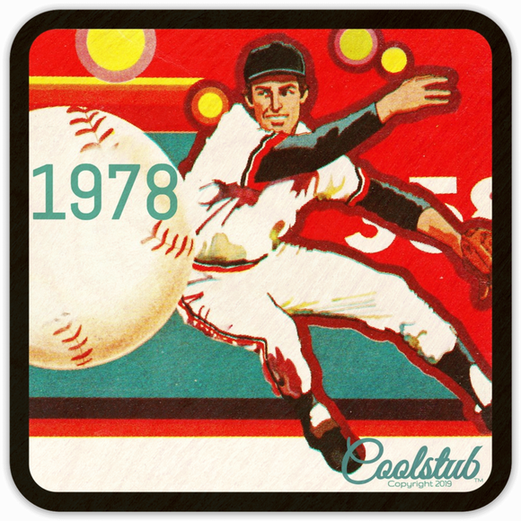 1978 Vintage Baseball Art Coasters by Coolstub™