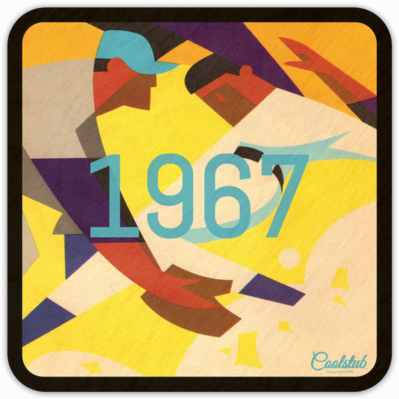 1967 Baseball Program Cover Art Drink Coasters by Coolstub™