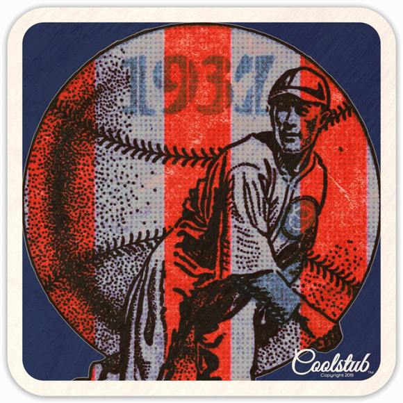 1937 Vintage Baseball Art Coasters by Coolstub™