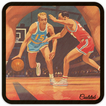 Load image into Gallery viewer, Best Father's Day Gifts 2019: Coolstub™ 1950's Basketball Art Coasters