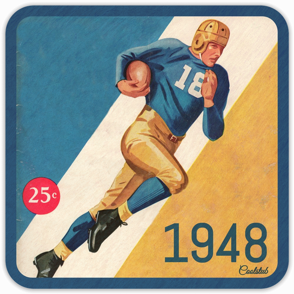 Best Father's Day Gift Ideas for Sports Lovers: 1948 Football Program Coasters