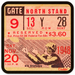 Best Gifts For Sports Fans! November 20, 1948 Football Ticket Coasters by Coolstub™