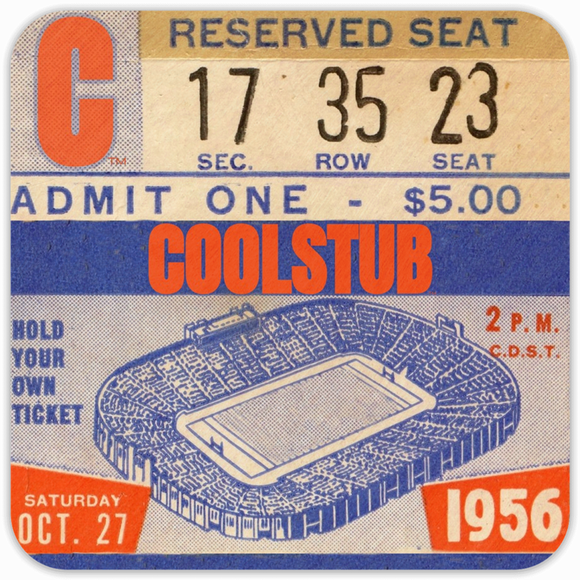 Best Father's Day Sports Gifts of 2019: 1956 Football Ticket Coasters by Coolstub™