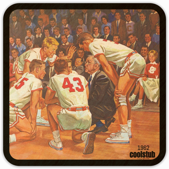 Best Basketball Gift Ideas: 1962 Coolstub™ Vintage Basketball Coasters