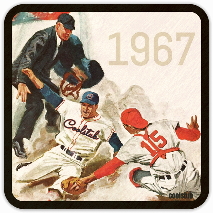 '67 Baseball Art Drink Coasters by Coolstub™