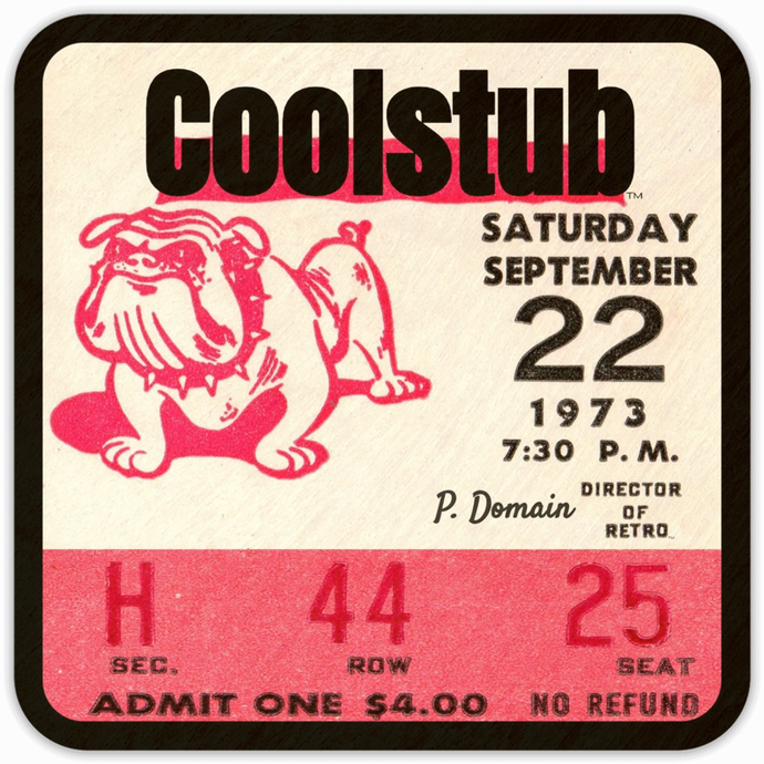Top Picks for Father's Day 2019: 1973 Coolstub™ Retro Ticket Stub Coasters