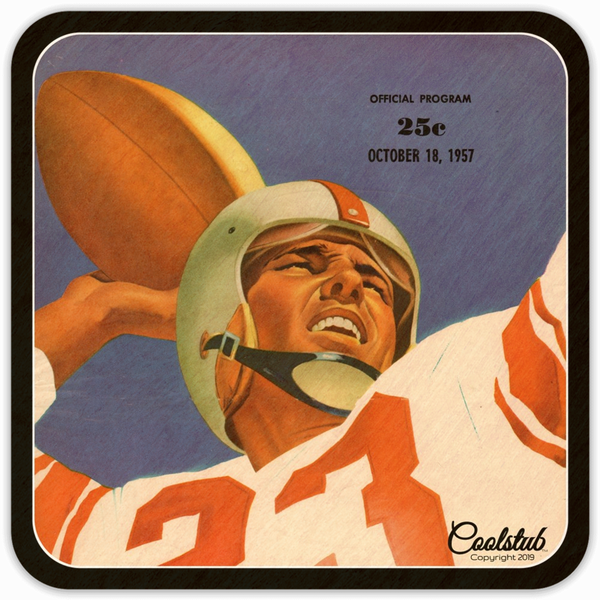 '57 Double Border Number 23 Quarterback Coasters by Coolstub™
