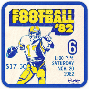 1982 Football Ticket Coasters by Coolstub™