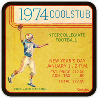 Pop Culture Gift Ideas: 1974 Coolstub™ Vintage Ticket Coasters
