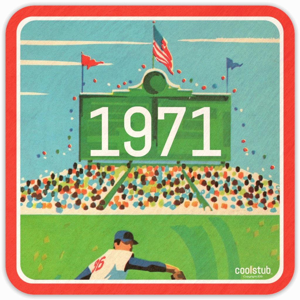 1971 Baseball Gift Idea: Coolstub™ Vintage Baseball Stadium Art Coasters