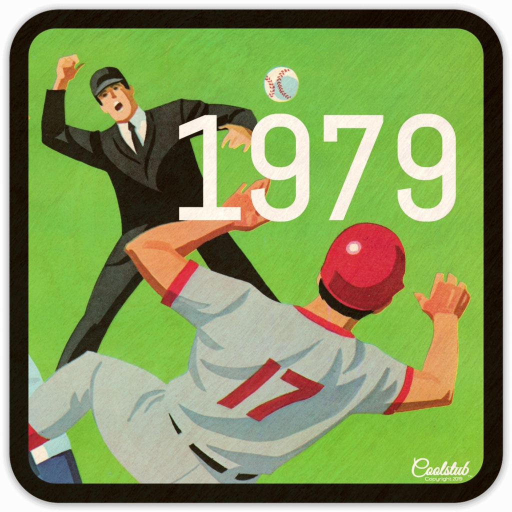 1979 Birth Year Gift Idea: 1979 Baseball Jersey Number 17 Coasters by Coolstub™
