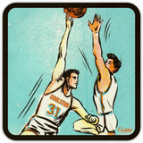 Father's Day Gift Ideas 2019: Vintage Basketball Art Coasters by Coolstub™