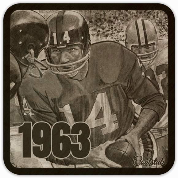 Father's Day Gift Ideas For 1963 Dads: '63 Football Handoff Coasters by Coolstub™