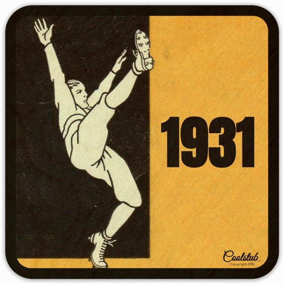 1931 Football Punter Coasters by Coolstub™
