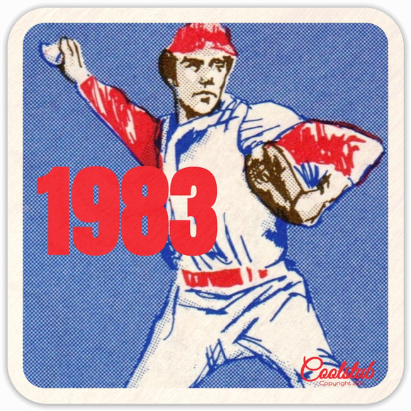 1983 Birth Year Gift Ideas: Coolstub™ Baseball Drink Coasters