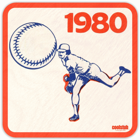 1980 Pop Culture Gift: Coolstub™ Baseball Pitcher Coasters