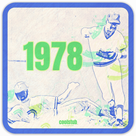 1978 Baseball Gift Idea: Coolstub™ Baseball Drink Coasters