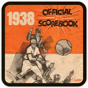 1938 Baseball Scorebook Coasters by Coolstub™