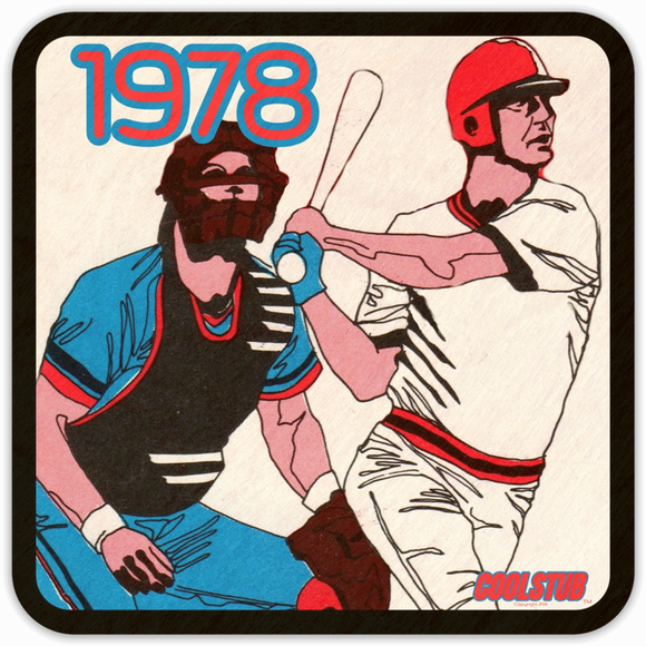 1978 Baseball: Coolstub™ Retro Diamond Art Coasters