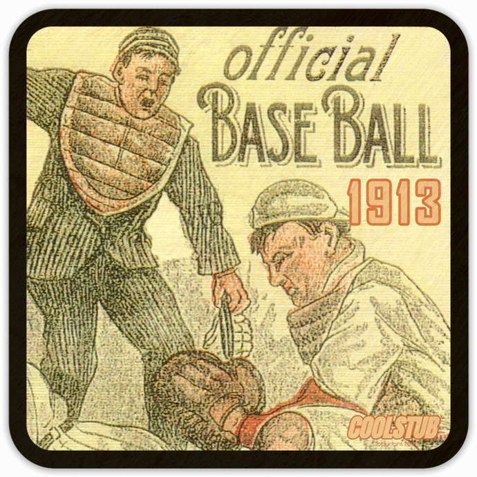 1913 Baseball Drink Coasters by Coolstub™
