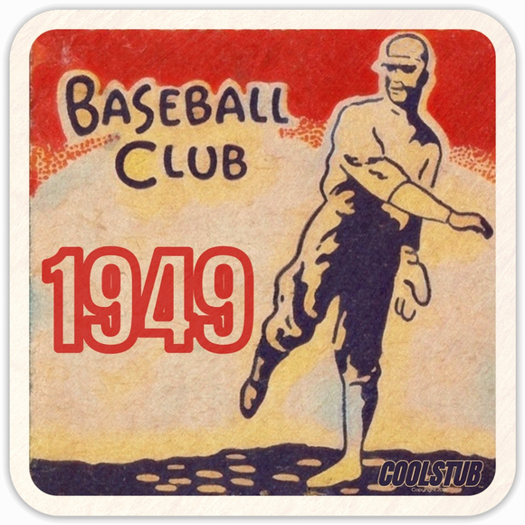 1949 Baseball Drink Coasters by Coolstub™
