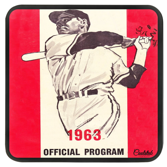 1963 Baseball Program Masonite Hardboard Coasters by Coolstub™