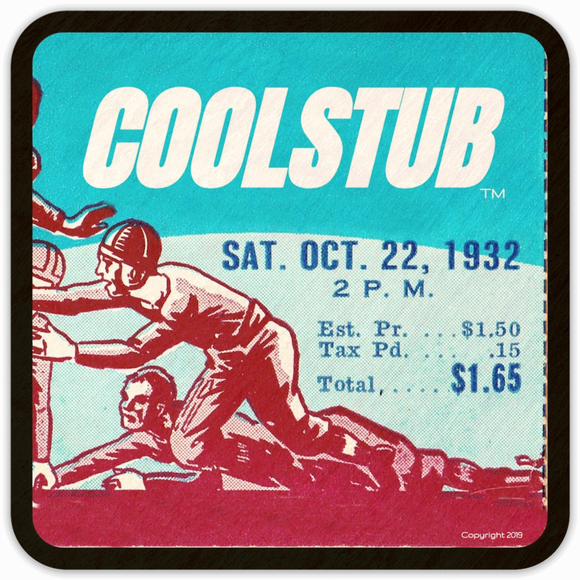 Coolstub™ 1932 Football Ticket Coasters