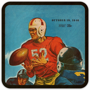 October 19, 1946 Birthday Gift Idea: Coolstub™ Vintage Football Program Coasters