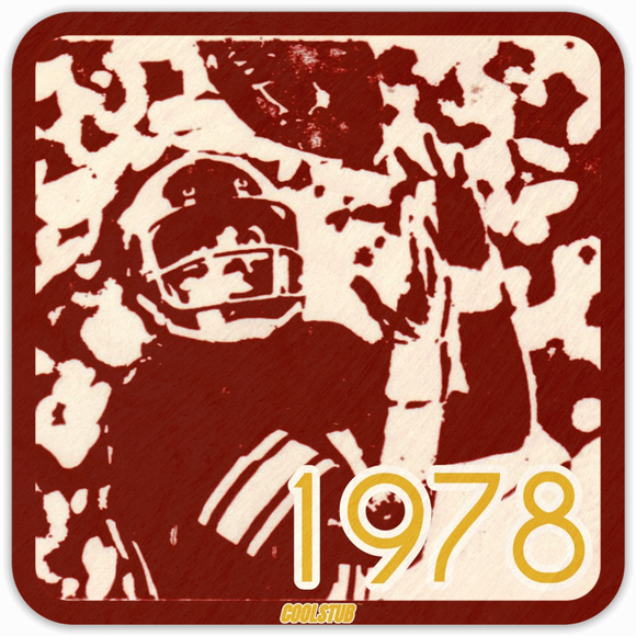 1978 Football Ticket Coasters by Coolstub™