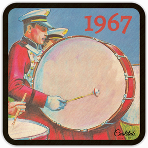 Unique Gifts for Marching Band Members: 1967 Bass Drum Art Coasters by Coolstub™