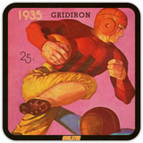 Best Father's Day Gifts for Football Fans! 1935 Football Program Cover Art Coasters by Coolstub™