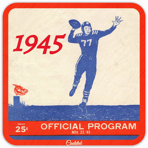 1945 Number 77 Quarterback Football Program by Coolstub™