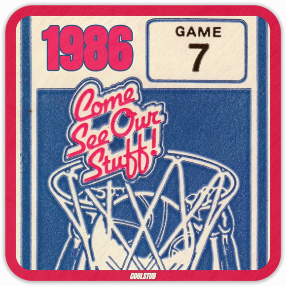 1986 Basketball Ticket Coasters by Coolstub™