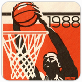 1988 Basketball Season: '88 Dunk Coasters by Coolstub™
