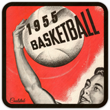 1955 Basketball Season: Coolstub™ '55 Basketball Art Coasters