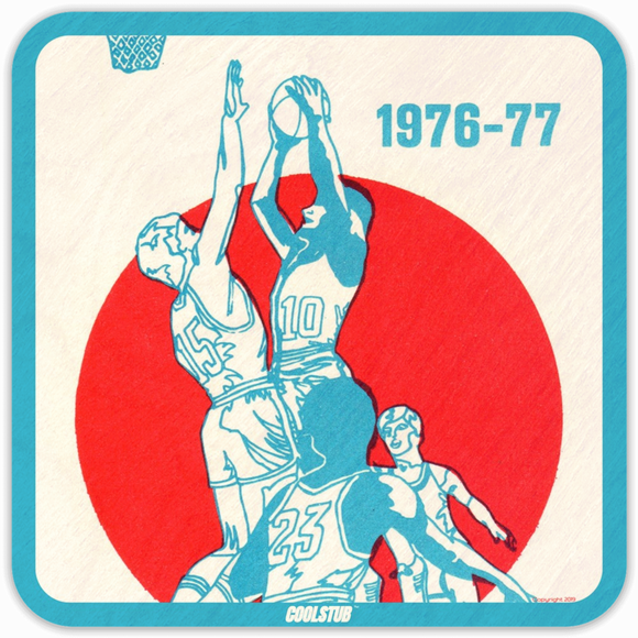 1976 Pop Culture Gift Idea: 1976 Coolstub™ Basketball Coasters