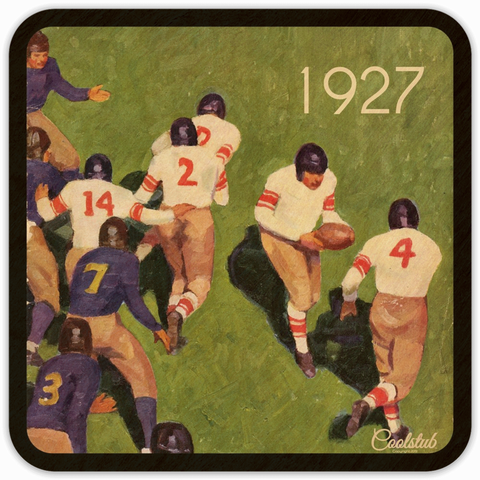 "Best Sports Gift Ideas for Father's Day 2019: Coolstub™ Authentic Vintage Sports Coasters ""1927 Handoff"""