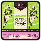 Father's Day Gift Ideas 2019: 1966 Football Ticket Coasters by Coolstub™