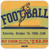 Father's Day Gifts for Dads That Love Coffee: 1939 Football Ticket Coasters by Coolstub™