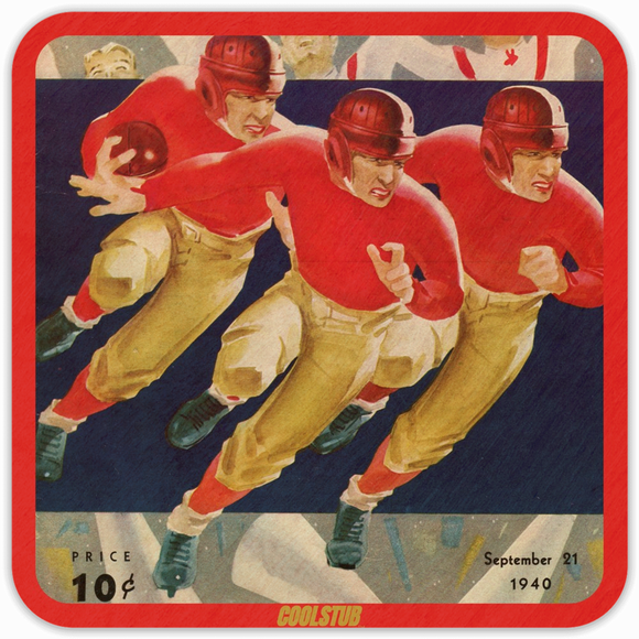 1940 Football Program Coasters by Coolstub™