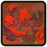 1963 Birth Year Gift Ideas: Coolstub™ 1963 Football Art Coasters