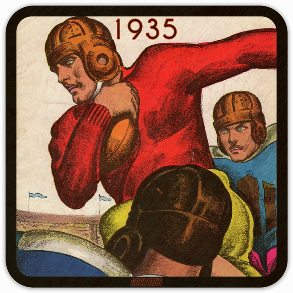 Best Father's Day Gift Ideas for Sports Fans! 1935 Football Art Coasters by Coolstub™