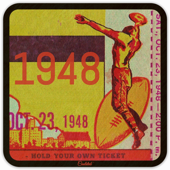 1948 Ticket Stub Coasters by Coolstub™