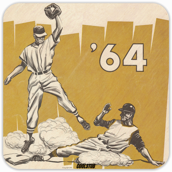 Best Father's Day Gifts for Baseball Fans! Coolstub™ 1964 Baseball Drink Coasters