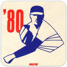 Load image into Gallery viewer, 1980 Baseball: Coolstub™ Retro Baseball Drink Coasters